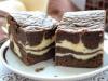 Шоколадно-творожный пирог.