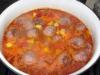 Густой суп с кабачками и фрикадельками.